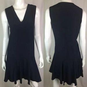 J. Crew Sleeveless V-Neck Flare Tunic Shirt Dress